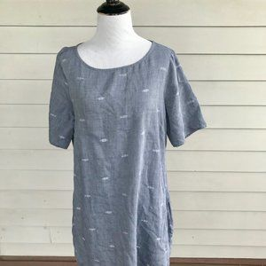 Eileen Fisher Short Sleeve Dress Long Tunic TShirt